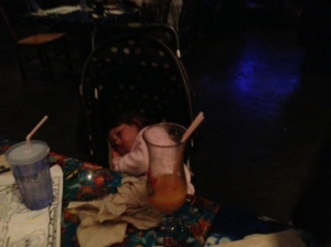 McKenna actually fell asleep in her stroller. The end is near.