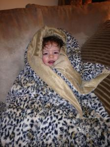 McKenna's blanket magically transported her back to the fashion world of 1975.