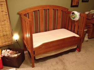 Ready for the toddler bed! Or maybe, sometimes ready for the toddler bed!